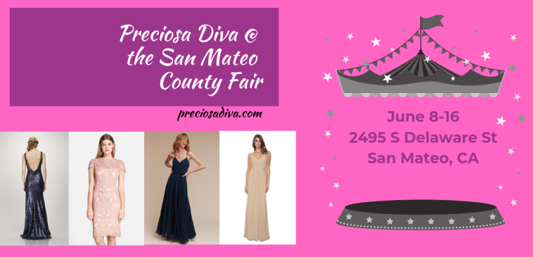 designer bridesmaid mother of the bride mother of the groom special occasion dresses at the San Mateo County Fair June 8th to June 16th Jenny Yoo Watters & Watters Pamella Roland Donna Morgan Theia Nicole Miller